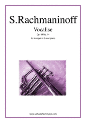Cover icon of Vocalise Op.34 No.14 sheet music for trumpet and piano by Serjeij Rachmaninoff, classical score, intermediate skill level