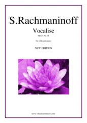 Cover icon of Vocalise Op.34 No.14 (NEW EDITION) sheet music for cello and piano by Serjeij Rachmaninoff, classical score, intermediate/advanced skill level