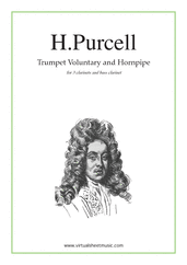 Cover icon of Trumpet Voluntary and Hornpipe sheet music for three clarinets and bass clarinet by Henry Purcell, classical wedding score, easy/intermediate skill level