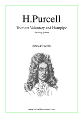 Cover icon of Trumpet Voluntary and Hornpipe (parts) sheet music for string quartet by Henry Purcell, classical wedding score, easy/intermediate skill level