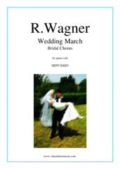 Cover icon of Wedding March - Bridal Chorus sheet music for piano solo by Richard Wagner, classical wedding score, beginner skill level