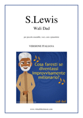 Cover icon of Wali Dad - Musical (Italian Version) sheet music for small ensemble, voices, choir and piano by Stephanie Lewis, advanced orchestra