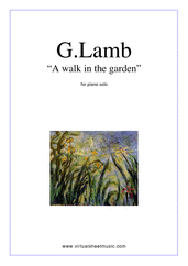 Cover icon of A Walk In The Garden sheet music for piano solo by Gary Lamb, easy skill level