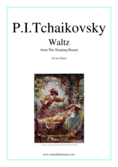 Cover icon of Waltz from The Sleeping Beauty sheet music for two flutes by Pyotr Ilyich Tchaikovsky, classical score, easy duet
