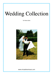 Cover icon of Wedding Sheet Music for three violins, classical wedding score, intermediate skill level
