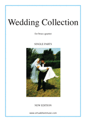 Cover icon of Wedding Sheet Music (New Edition) for brass quartet, classical wedding score, intermediate skill level