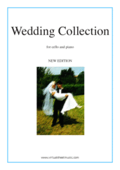 Cover icon of Wedding Sheet Music (NEW EDITION) for cello and piano (organ), classical wedding score, intermediate skill level