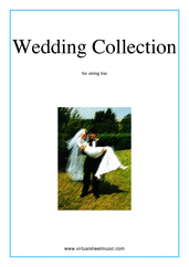 Cover icon of Wedding Sheet Music for string trio (violin, viola and cello), classical wedding score, intermediate skill level