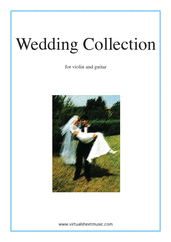 Cover icon of Wedding Sheet Music for violin and guitar, classical wedding score, intermediate duet