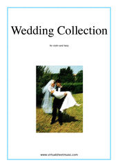 Cover icon of Wedding Sheet Music for violin and harp, classical wedding score, intermediate skill level