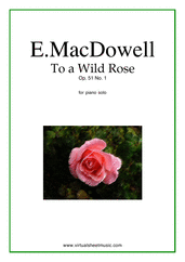 To a Wild Rose Op.51 No.1 for piano solo - intermediate patriotic sheet music