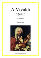 "Cover icon of Concerto ""Winter"" (f.score) sheet music for string quartet by Antonio Vivaldi, classical score, advanced skill level"